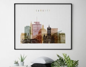 Cardiff watercolor 1 poster second