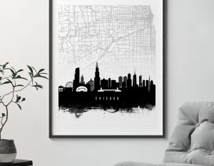 Chicago map print second