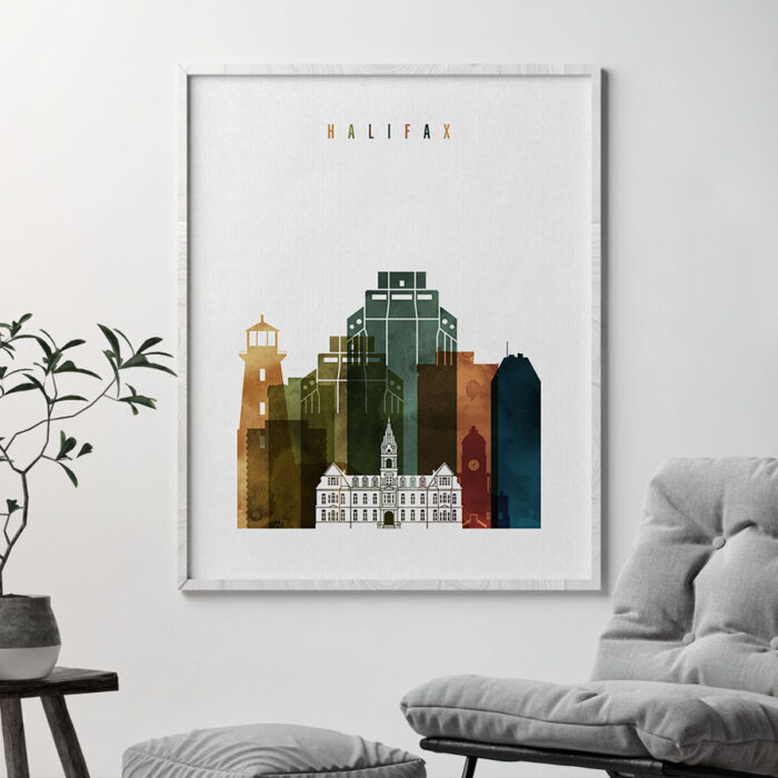 Halifax poster watercolor 3 second