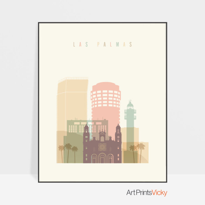 Las Palmas Spain poster