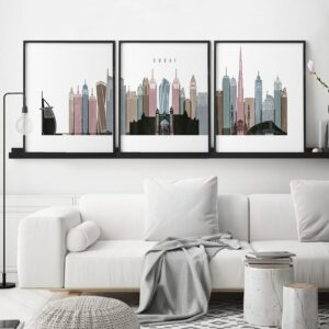 Dubai 3 prints set distressed 1 second