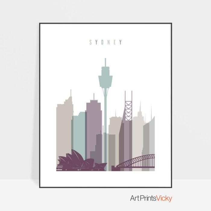 Sydney poster pastel 2