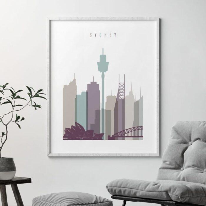 Sydney poster pastel 2 second
