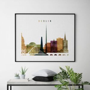 Art prints Dublin watercolor 3 second