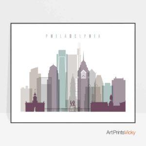 Art prints Philadelphia landscape pastel 2