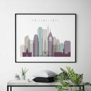Art prints Philadelphia landscape pastel 2 second