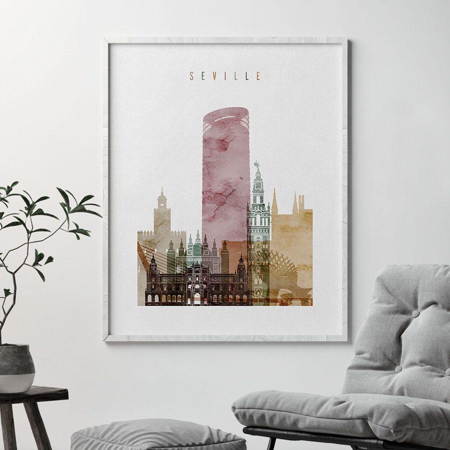 Art prints Seville watercolor 1 second