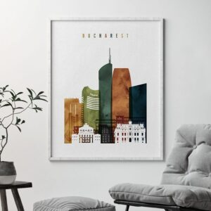 Bucharest poster watercolor 3 second