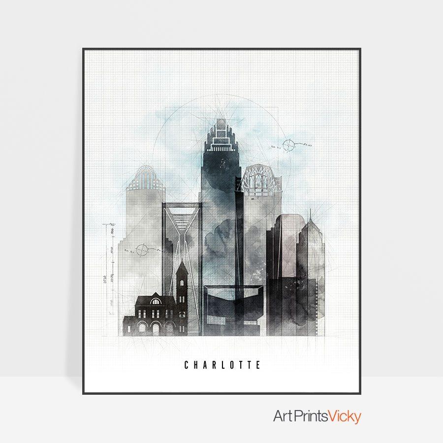 Charlotte art print urban