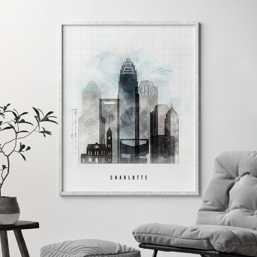 Charlotte art print urban second