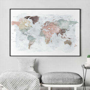 Detailed world map print second