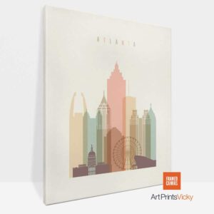 atlanta skyline canvas print