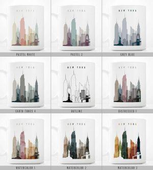 mugs skylines art styles