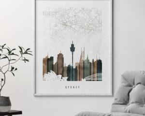Sydney map poster second