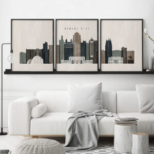 Set of prints Kansas City distressed 2 second