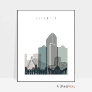 Valencia poster earth tones 4