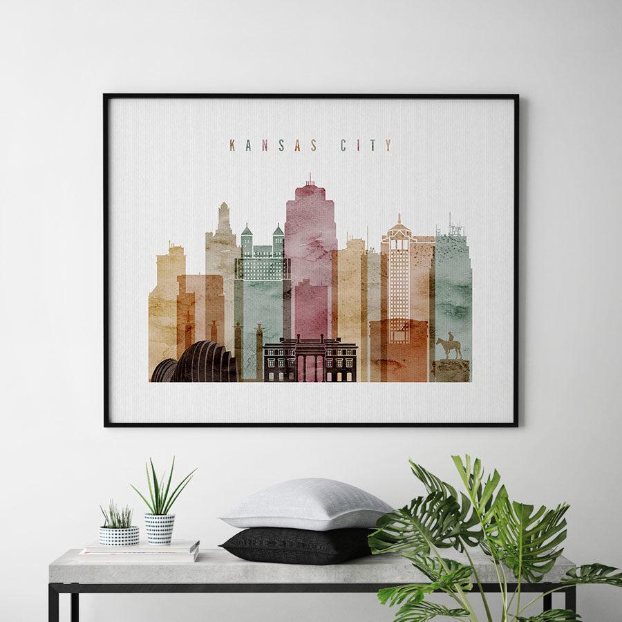 Kansas City print watercolor 1 landscape second