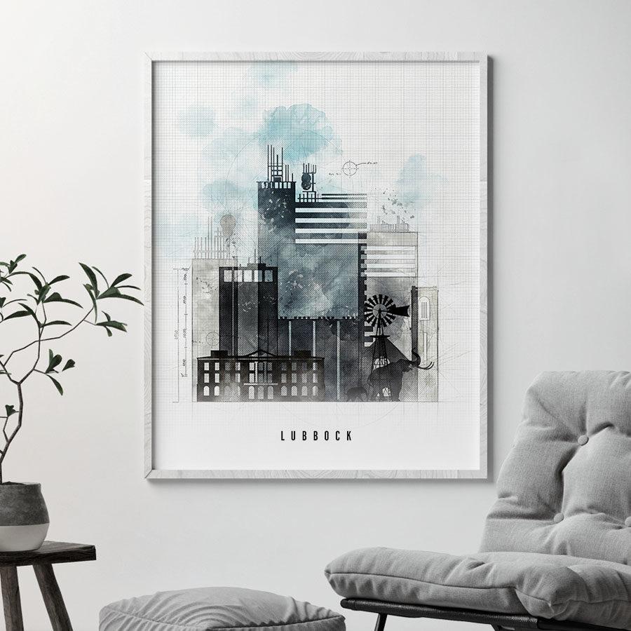 Lubbock urban print second