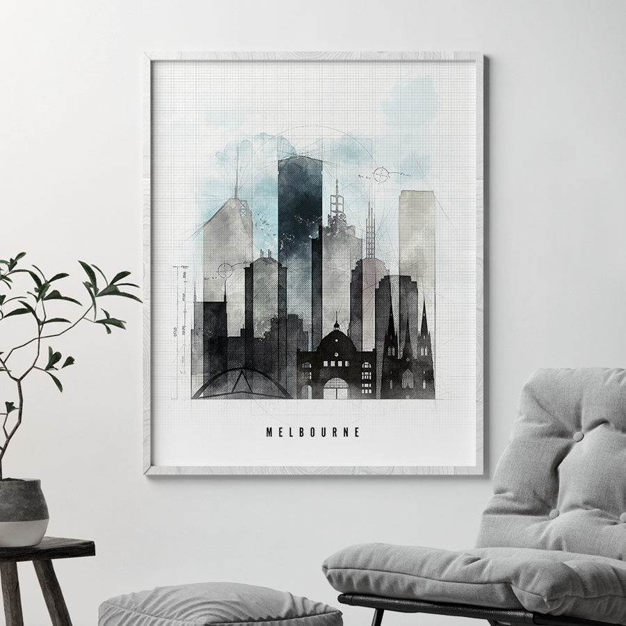 Melbourne urban poster second
