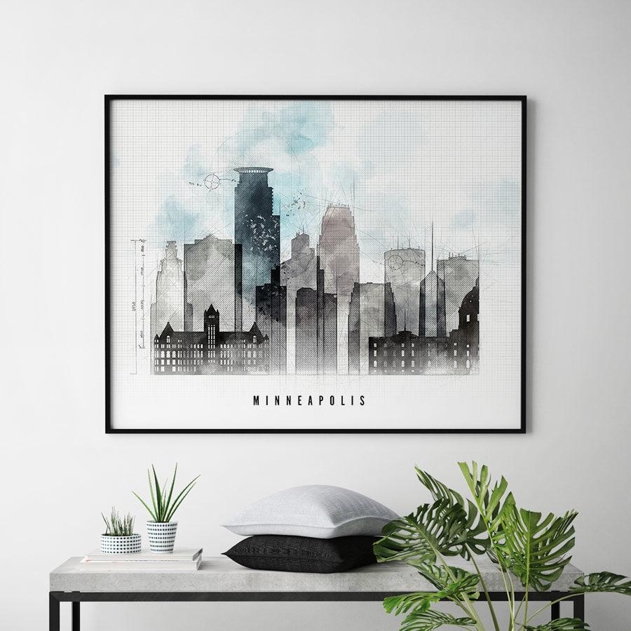 Minneapolis urban poster landscape second