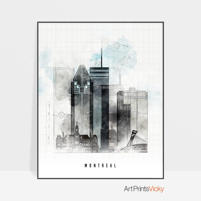 Montreal urban poster