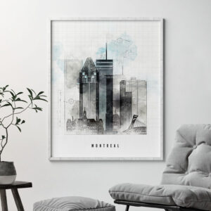 Montreal urban poster second
