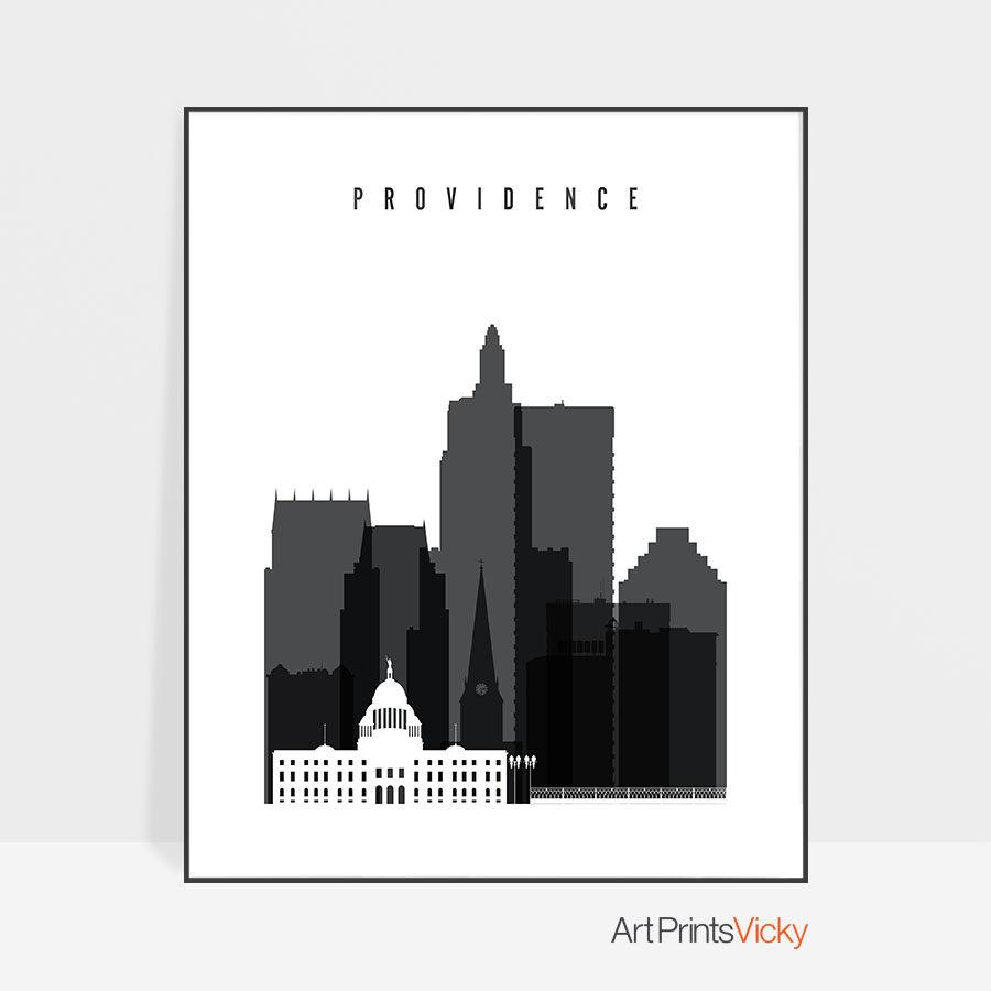 Providence print black and white
