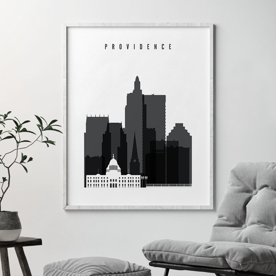 Providence print black and white second