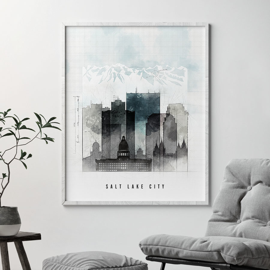 Salt Lake City urban print second