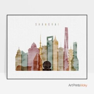 Shanghai poster watercolor 1 landscape