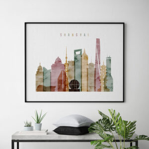 Shanghai poster watercolor 1 landscape second