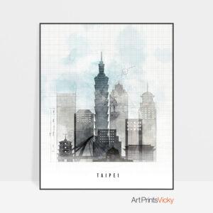 Taipei urban poster