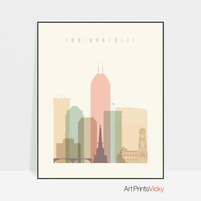 indianapolis-art-print-skyline-pastel-cream