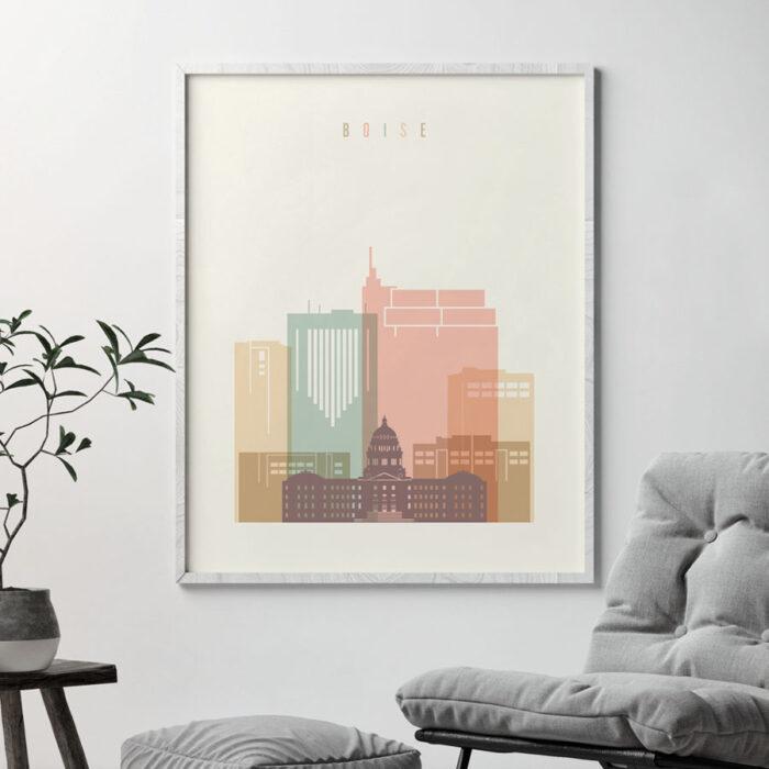 boise-art-print-skyline-pastel-cream-second