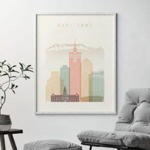 cape-town-art-print-skyline-pastel-cream-second