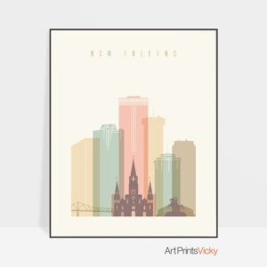 new-orleans-art-print-skyline-pastel-cream