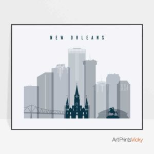 new-orleans-skyline-art-grey-blue-landscape