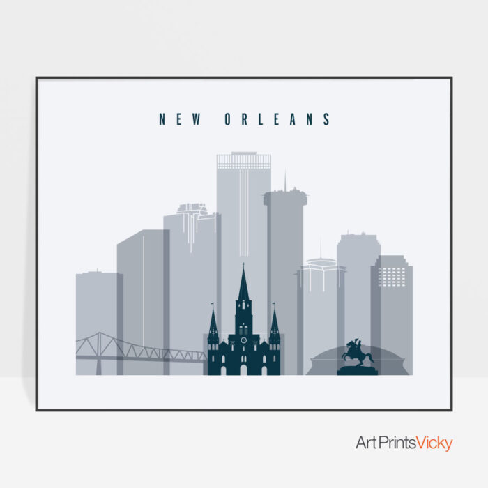 new-orleans-skyline-art-grey-blue-landscape