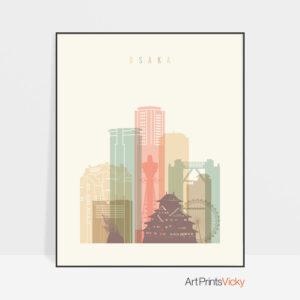 osaka-skyline-poster-pastel-cream