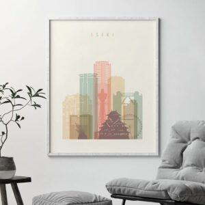 osaka-skyline-poster-pastel-cream-second