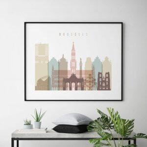 Brussels print pastel white landscape second