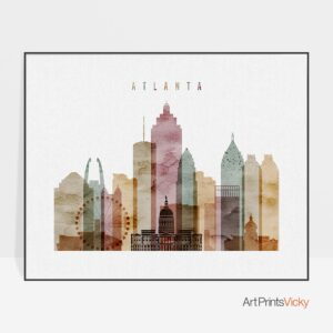 Atlanta print watercolor 1 landscape