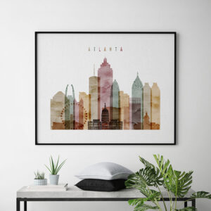 Atlanta print watercolor 1 landscape second