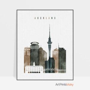 Auckland art print watercolor 2
