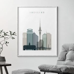 Auckland poster earth tones 4 second