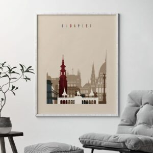 Budapest poster earth tones 2 second