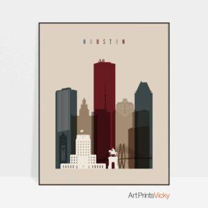 Houston poster earth tones 2
