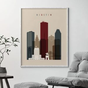 Houston poster earth tones 2 second