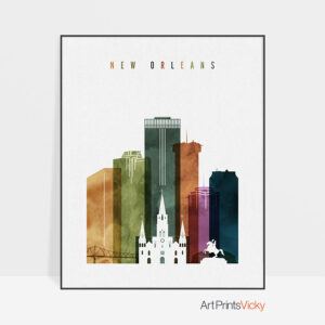 New Orleans poster watercolor 3