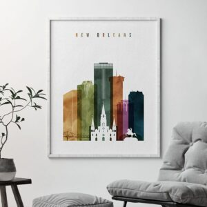 New Orleans poster watercolor 3 second